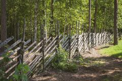 Traditional wooden fence Stock Image