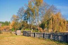 Traditional wooden fence from transylvania Stock Images