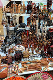 Traditional  wooden figurine and toys - Cuban street market Stock Image