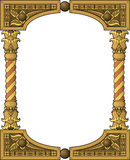 Traditional wooden frame Stock Images
