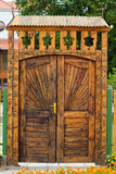 Traditional wooden gate Stock Photo