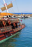 Traditional wooden Gulet cruise boat sinks Stock Photography