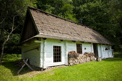 Traditional wooden house. Very old wooden house with ethnographic values on a countryside Stock Photo