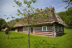 Traditional wooden house. Very old wooden house with ethnographic values on a countryside Royalty Free Stock Photo
