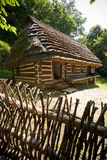 Traditional wooden house. Very old wooden house with ethnographic values on a countryside Royalty Free Stock Images