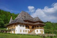 Traditional wooden house in Barsana monastery. Maramures region, Royalty Free Stock Photography