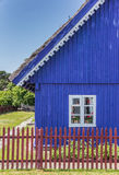 Traditional wooden house on Curonian Spit village Nida Royalty Free Stock Image