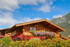Traditional Wooden House In Tyrol, Austria Stock Images