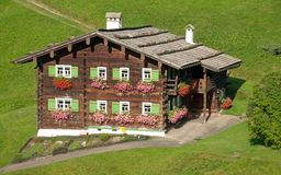 Traditional wooden House,Kleinwalsertal,Austria Stock Photo