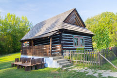Traditional wooden house in nature Stock Images