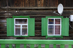 Traditional wooden house, Olkhon Island, Baikal Lake Royalty Free Stock Images