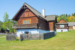 Traditional wooden house village Royalty Free Stock Photo