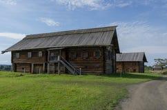 Traditional  wooden house in village on  island of Kizhi, Kareli Stock Photos