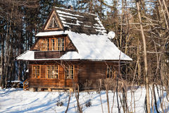 Traditional wooden house in Zakopane Stock Photos