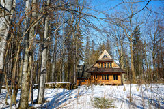 Traditional wooden house in Zakopane, Poland Royalty Free Stock Images