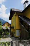 traditional wooden houses in Hallstatt Royalty Free Stock Photo
