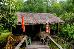 Traditional wooden houses in the Kuching to Sarawak Culture village. Malaysia Stock Photo