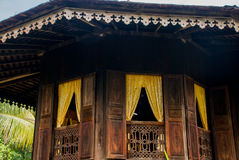 Traditional wooden houses Ruman Melayu. Kuching to Sarawak Culture village. Malaysia. Traditional wooden houses Ruman Melayu in the Kuching to Sarawak Culture Royalty Free Stock Photography