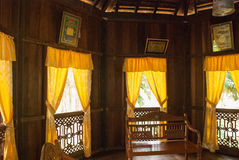 Traditional wooden houses Ruman Melayu Kuching to Sarawak Culture village. Interior. Malaysia. Traditional wooden houses Ruman Melayu in the Kuching to Sarawak Royalty Free Stock Photography