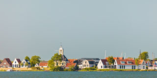 Traditional wooden houses in the small Dutch village of Durgerda Royalty Free Stock Photos