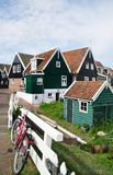 Traditional wooden houses in Marken, Netherlands Stock Images
