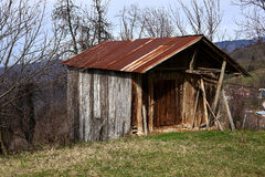 A traditional wooden hut Stock Photos
