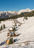 Traditional wooden hut in Alps Royalty Free Stock Image