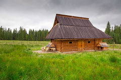 Traditional wooden hut in Tatra mountains Stock Photos