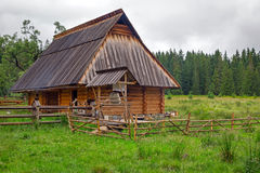 Traditional wooden hut in Tatra mountains Stock Images