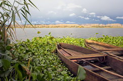Traditional wooden lake boats Stock Photography