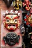 Traditional Wooden Masks, Kathmandu, Nepal Royalty Free Stock Images