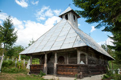 Traditional wooden orthodox church in Romania Stock Image