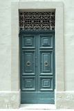 Traditional wooden painted blue door in Malta. Traditional wooden, vintage painted blue door in Malta Stock Photos