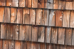 Traditional wooden roof shingles Royalty Free Stock Photo
