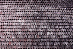 Traditional wooden roof tile of old house Stock Photos