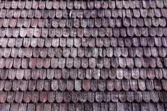 Traditional wooden roof tile of old house Royalty Free Stock Image