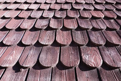 Traditional wooden roof tile of old house Royalty Free Stock Images