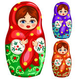 Traditional wooden Russian matryoshka toy Stock Images