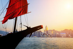 Traditional wooden sailboat Royalty Free Stock Photo