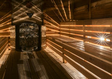Traditional wooden sauna Royalty Free Stock Photo
