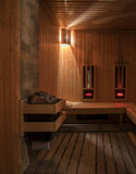 Traditional wooden sauna Royalty Free Stock Photos