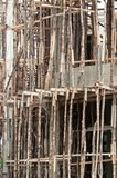 Traditional Wooden Scaffolding Royalty Free Stock Photos