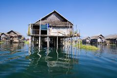 Traditional wooden stilt houses Royalty Free Stock Photo
