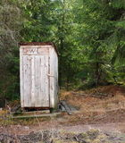 Traditional wooden toilet Royalty Free Stock Photography