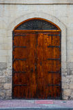 Traditional wooden door in Malta. Traditional wooden, vintage door in Malta Stock Image