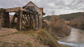 Traditional Wooden watermill Royalty Free Stock Images