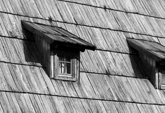 Traditional wooden window stock photography