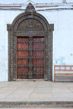 Traditional wooden zanzibar door Stock Images