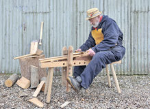 Traditional woodworker Stock Photo