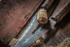 Traditional woodworker tools Stock Photography
